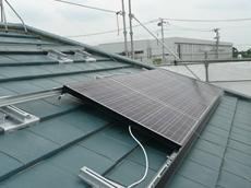 春日部市 太陽光発電システム設置 リフォーム 完成形が見えて来ました。