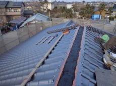屋根のオガワ 屋根葺き替えリフォーム 春日部市 和型銀黒