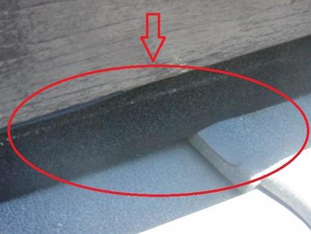の瓦と壁に隙間を補修しました。 春日部市 破風板隙間ふさぎ リフォーム