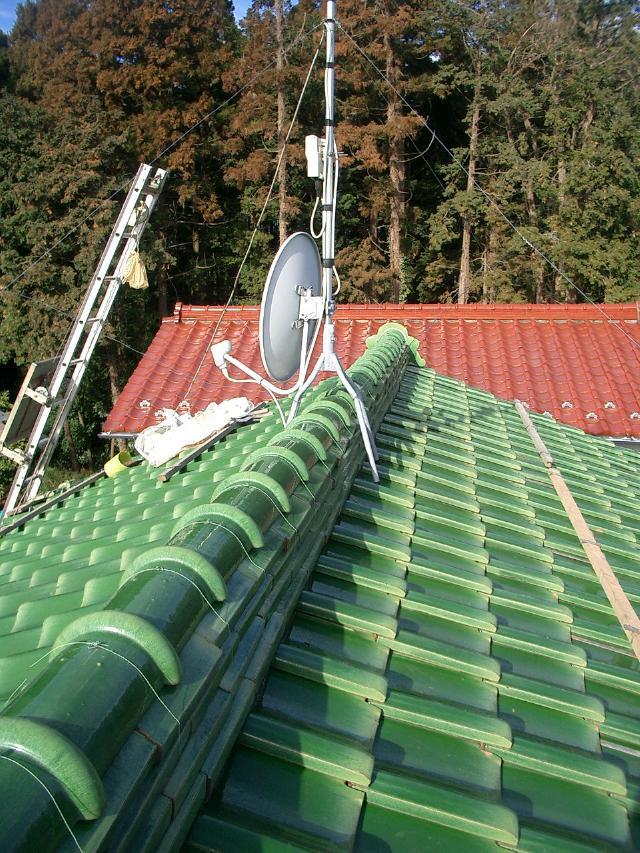 屋根 棟 修理