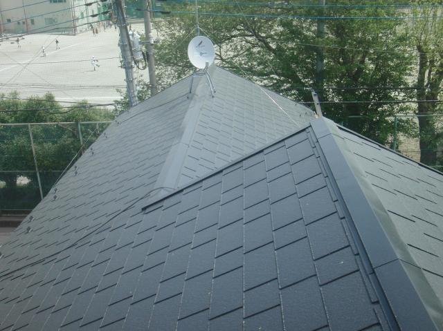 屋根塗装 棟修理