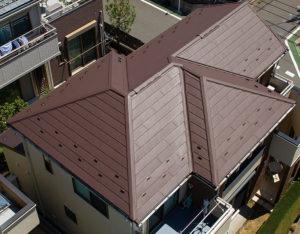 屋根カバー工法(スーパーガルテクト)